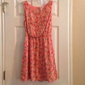 Dresses & Skirts - Giraffe print dress size medium.