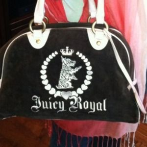 Authentic juicy couture pink brown bowler bag