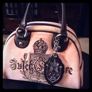 Authentic Juicy couture pink bowler bag!