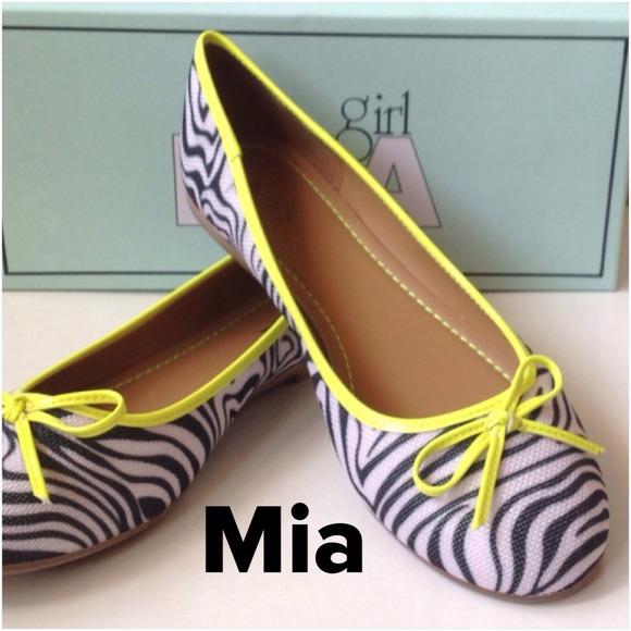 Mia Zebra Flats Shoes