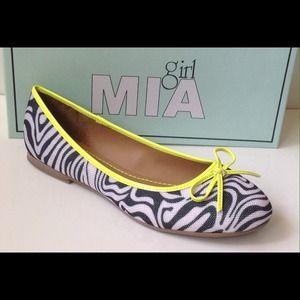 Mia Girl Shoes - Mia Zebra Flats Shoes