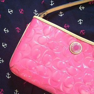 Coach Handbags - Authentic Coach pink quilted mini bag