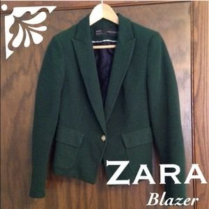 Zara Jackets & Blazers - Zara Blazer / Jacket Hunter Dark Green - Size 6