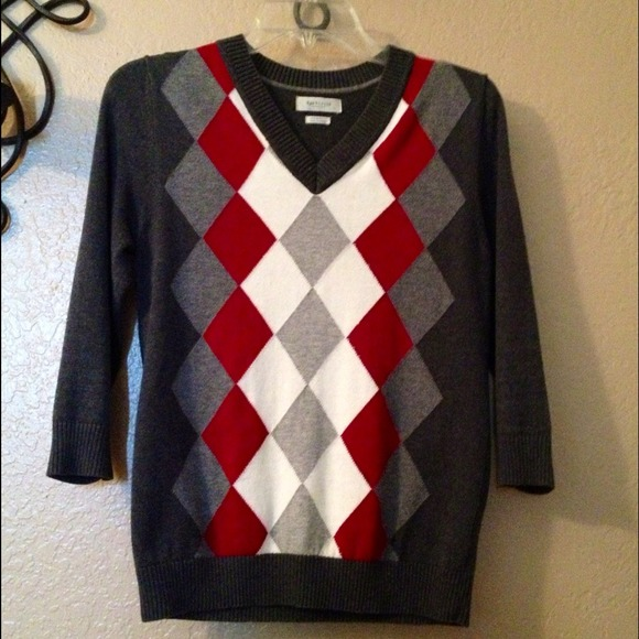 Van Heusen Women'S Argyle Sweater 3