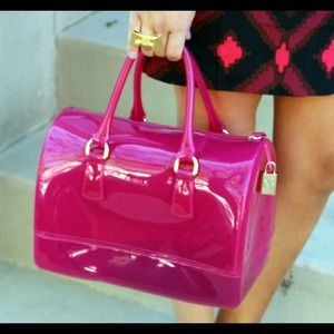 Furla Handbags - Furla Candy Satchel Dragonfruit
