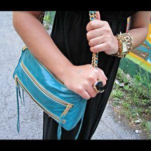 Rebecca Minkoff Turquoise 5-Zip MAC Bag