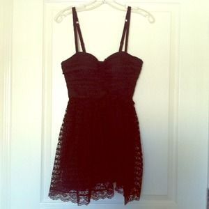 NWOT MODA black lace mini dress with bra top