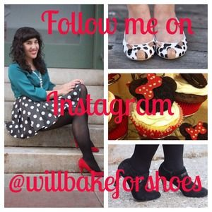 Follow me @willbakeforshoes