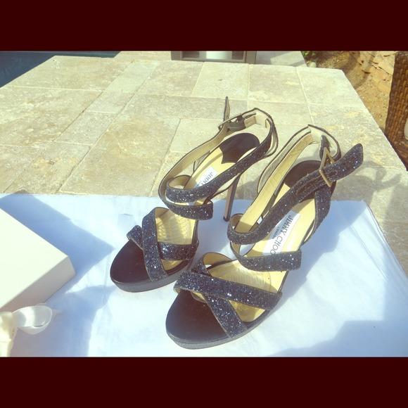 Sandals Choo Poshmark Jimmy Navy Rl4aj35 Accessoriessold Ebay Glitter On MVzSUp