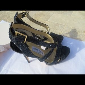 Poshmark Jimmy Accessoriessold Ebay On Sandals Navy 34al5jr Choo Glitter BrxoeQECWd