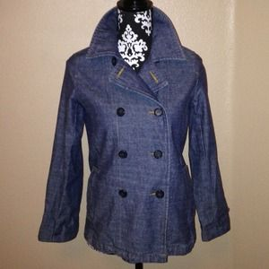 Denim Double Breasted Jacket