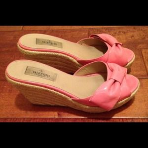 Valentino Shoes - VALENTINO PINK 'MENA' wedge size 7