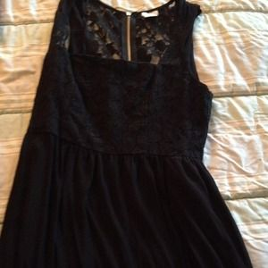 black lace urban outfitter dress