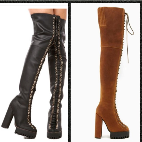 78% off Jeffrey Campbell Boots - ⚡️Flash Sale⚡️Longview Thigh ...