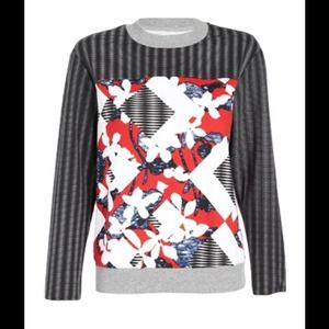 Peter  Pilotto for Target Red Floral Sweatshirt