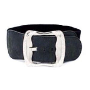 Accessories - NEW Black Stretch Belt with Rhinestone Buckle
