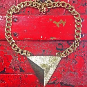 NEW Gold Triangle Necklace