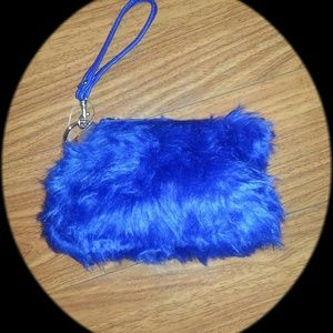 Handbags - 👛 Clutch blue wristleg bag cookie monster bag