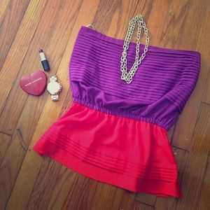 Rory Becca for Forever 21 color block tube top