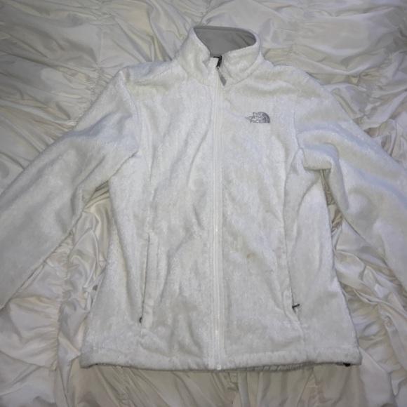 156fe1826 Women's White Fluffy North Face Jacket