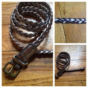 Urban Outfitters Accessories - Metallic Braided Skinny Belt