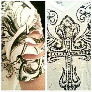 Occasion Tops - ✳ Shredded Back T-shirt w  Cool Design ✳️ cdec1e413