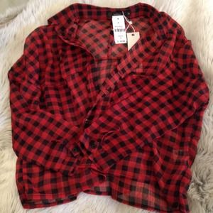 LF Tops - LF MILLAU checkered Blouse