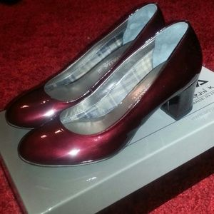 Aquatalia Burgundy Patent Shoes