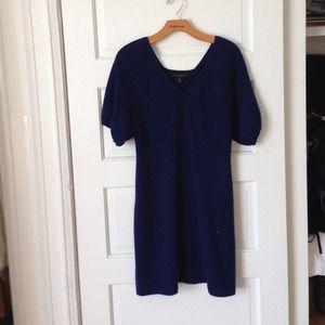 Banana Republic Navy Blue Cashmere Sweater Dress