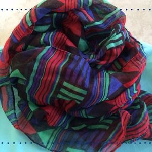 Accessories - Red Green & Blue Scarf