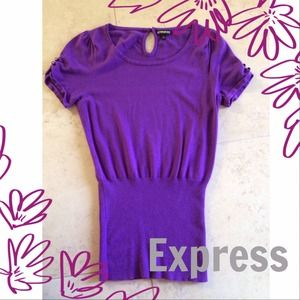 Express Tops - Purple Sweater Top from Express