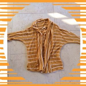 Sweaters - Mustard Striped Cardigan