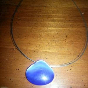 Cobalt Blue Stone Silver Necklace