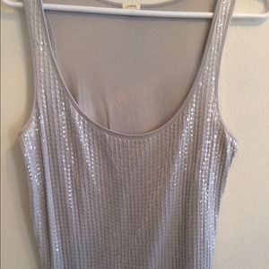 Dove Grey Sequined Tank - J. Crew :)