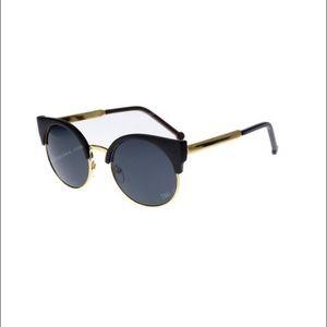 Trendy Round Cat Eye Funky Sunnies Sunglasses