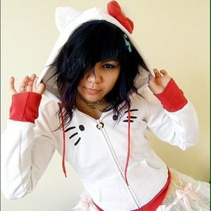 Hello Kitty Sweater with hood ears