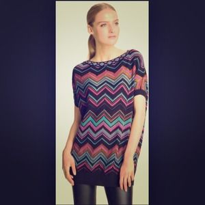 Missoni Tops - M Missoni Boxy Zigzag Top