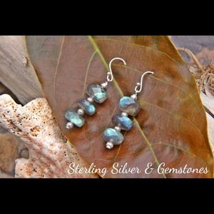 Jewelry - Sterling Silver and Labradorite earrings.