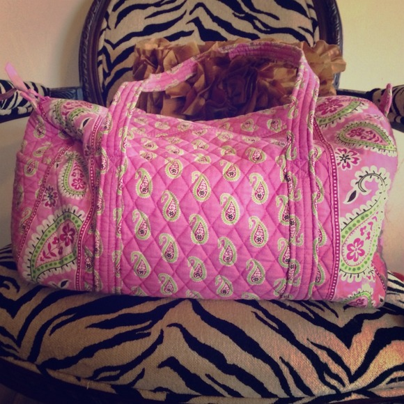 Vera Bradley pink paisley small duffle bag. M 5314c0fe0b47d332a81c6a81 645745ffcb8ce