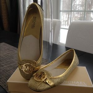 Michael Kors Fulton Glittered Moccassins