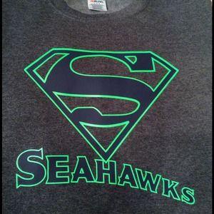 CUSTOM SEATTLE SEAHAWK SWEATSHIRT