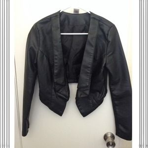 ASOS Jackets & Blazers - 🍂ASOS Faux Leather Hipster Blazer🍂