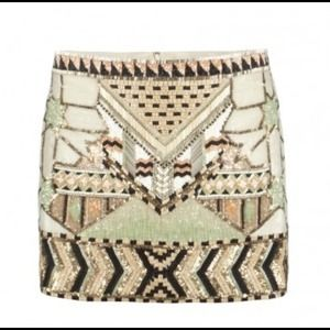 All Saints Dresses & Skirts - All saints sequins aztec mini skirt 4