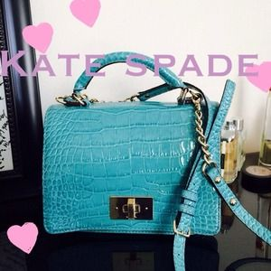 HOST PICK!! Kate Spade teal crocodile purse bag