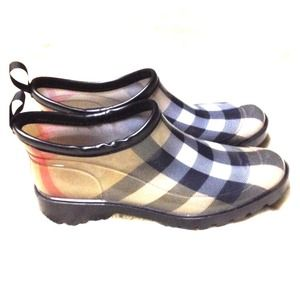 burberry ankle rain shoes
