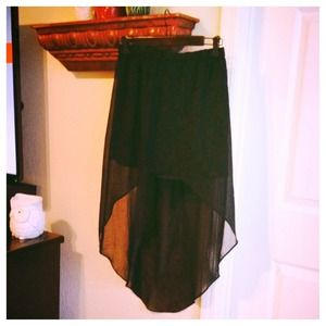Zara black hi-lo skirt