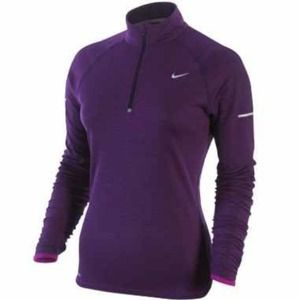 NIKE DRI-FIT HALF-ZIP RUNNING TRAINING SHIRT