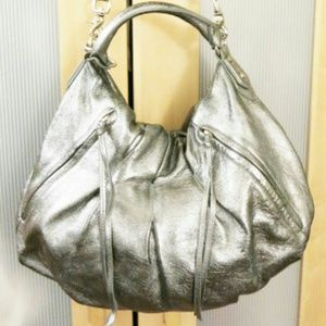 Botkier James hobo bag. Lambskin leather in silver