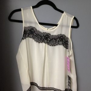 Laced Yoke Top NEW WITH TAGS