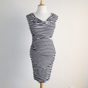 Black & White Striped bodycon Dress